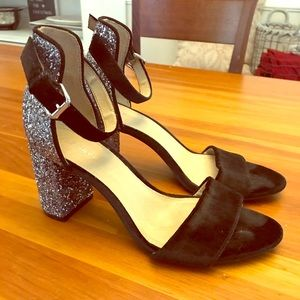 Old Navy silver and black heels